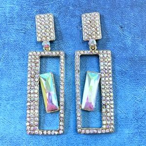 Cherryl's Jewelry - AB Crystal Special Occasion Drop Earrings